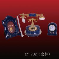 Antique ceramic telephone (CY-702), ployresin resin corded and cordless antique telephone christmas gift OEM Manufactures
