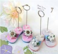 Quality Garden Party Flip Flop Place Card Holders Wedding Anniversary Favors for sale