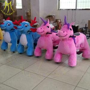 Hansel amusement park electric plush electronic kid riding horse toy for sale Manufactures