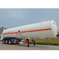 Quality Stainless Steel 304 LNG Tank Truck Trailer 3 Axles with 55000L High Vacuum for sale
