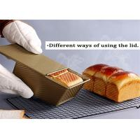 Quality Non Sticky Pullman Loaf Pan With Cover Aluminum Bakeware Bread Toast Mold for sale