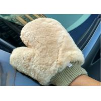 Lambswool Wash Mitt For Car Interior Cleaning , Lambswool Polishing Mitt  Manufactures