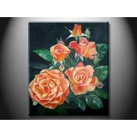 Eco - Friendly Wood Board Landscape Paint Hand made Oil Painting with Flower XSHH107 Manufactures