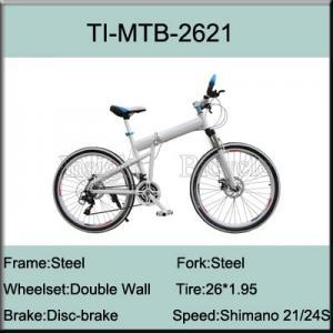 26 Steel Shimano 21 Speed Folding Mountain Bike Manufactures