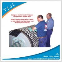 High quality rubber coated ceramic pulley lagging for conveyor Manufactures