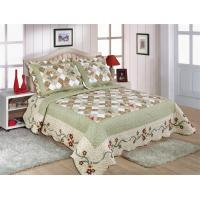 Matched Printed Designs Home Bed Quilts Country Style 180x240cm For Bedcovers Manufactures