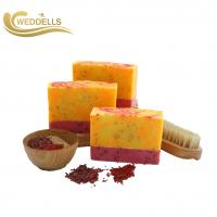 China Handmade Natural Body Soap Bar Elegant With Flower Scent Essential Oils on sale