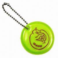 Round-shaped Soft Reflectors in Yellow, with Short Ball Chain Manufactures