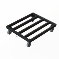 Knocked Down Heavy Iron Tube Industrial Dolly Cart For Transporting Manufactures