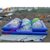 Heat Sealed Durable Cube Inflatable Water Pools For Water Ball Games Manufactures