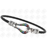 Lady Cable Stainless Steel Bracelets Colorful Sparkling Swarovski Bangle Manufactures