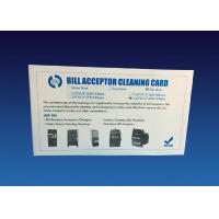 White Dust Free Bill Acceptor Cleaner Diamond Flocked Cleaning Card Kit Manufactures
