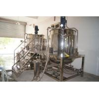 1000LSteam Heating Stainlesss Steel shampoo making machine for Liquid Soap, hand wash Manufactures