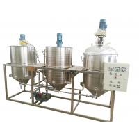 Three Tanks Oil Refinery Equipment , Palm Oil Refining Machine High Performance Manufactures