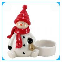 Ceramic Christmas Snowman Candle Holder Manufactures