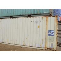 2nd Hand Used Steel Storage Containers For Goods Shipping 40RF Manufactures