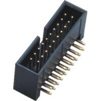 Plastic Height 13.6 Curved Needle Box Header Connector 2.54 Pitch Brass Material Manufactures