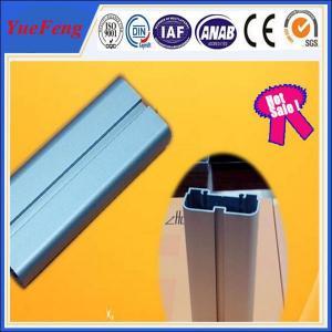 6063 T5 anodized aluminum blue flat bar / aluminium bar price per kg,  led light alu bar Manufactures