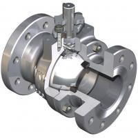 Fire Tested Design Trunnion Mounted Ball Valve Reduces Torque Deep Recessed Seats TFE Body Seal Manufactures