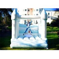White And Blue Color Inflatable Bouncer , Wedding Inflatable Bouncer For Sale Manufactures