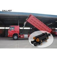 Dump Truck Multi Stage Hydraulic RAM Cylinder Eamless Steel Pipe With Piston Eye Manufactures