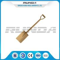 Wooden Handle Straight Edge Shovel Powder Painting Railway Steel Various Color Manufactures