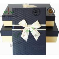 Quality Recycled Multi Colored Retails Handcrafted Gift Boxes Ribbon Bow Decorated Packaging for sale