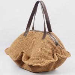 Large straw hobo bag, straw shoulder bag 80280 Manufactures