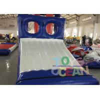 Blue / White Inflatable Sports Game 0.9mm PVC Tarpaulin Water Slide Game For Park Manufactures
