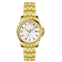 Charm Lady 304 Stainless Steel Rose Gold Watch Quartz Waterproof Manufactures