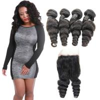 Healthy Tight Loose Human Hair Extensions With Closure Customized Length Manufactures