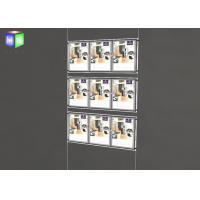Two Sided Wall Mounted LED Light Window Displays For Estate Agents Manufactures