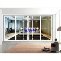 China Good Ventilation Aluminum Frame Sliding Glass Window Optional Electric Venetian Glass on sale