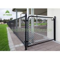 Easy Installation Steel Chain Link Fence , Galvanized Iron Diamond Wire Mesh Fence Manufactures