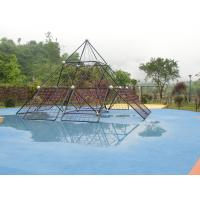 Safe Children Cargo Net Climber , Galvanized Post With Climbing Bridge Manufactures