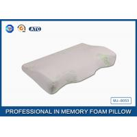 Orthopedic Design Convex Curved Memory Foam Bamboo Pillow / Memory Foam Support Pillow Manufactures