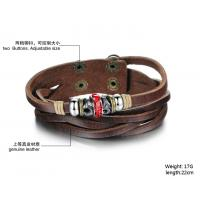 Buy fashion jewelry leather braclet hot sales factory priceBR38 Manufactures
