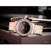 Quality Perfect Replica Piaget Rose Gold Diamond Bezel Black On White Dial 40mm Jubilee for sale