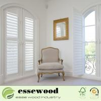 White Primed Waterproof Australian Style Shaped Round  Window Shutter Manufactures