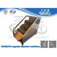 Non Ferrous Metal Belt Conveyor Magnetic Separator / Iron Remover With 3 Layer Manufactures