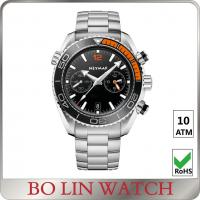 Buy cheap Simple Japanese Chronograph Stainless Steel Sports Watch / Metal Watches For Mens from wholesalers