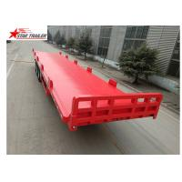 13 Meters 3 Axles Commercial Flatbed Trailer With Dual Line Brake System Manufactures