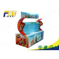 China Custom Made Glossy Logo Cardboard Corrugated Pallet Displays For Retail Promotion on sale