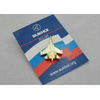 SU-35 Full Relief Die Spinning Pewter Soft Enamel Pin, Lapel Pins with Gold Plating for Promotion Manufactures