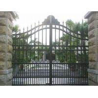China Residential House Wrought Iron Doors , Classic Home Depot Wrought Iron Gates on sale