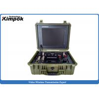 China Portable COFDM Transceiver with 17 Inch LCD Monitor Video Audio Communication on sale
