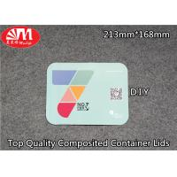 Quality Container Aluminium Foil Lid Composited Laminated Paper Can OEM Printing for sale