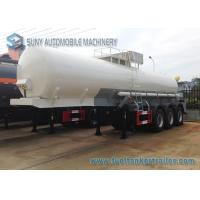 Transport Sulfuric Acid 30000L Oil Tank Trailer 3 Axle With Cylinder Shaped Manufactures