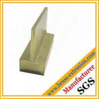 T-shaped copper alloy brass hardware extrusion sections brass profiles Manufactures