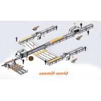 China full automatic wooden pallet production line of multiple blades rip sawmill for round logs or planks cutting on sale
